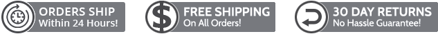 Orders Ship Within 24 Hours! - Free Shipping On All Orders! - 30Days returns No Hassle Guarantee !
